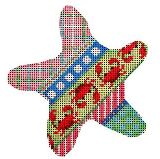 CT-1763 Crabs and Diagonal Patterns Starfish Ornament