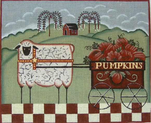 EWE-360 Sheep with Pumpkin Cart
