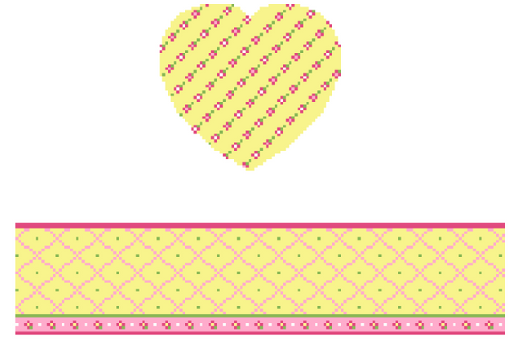 FS-HRT-13A Yellow Heart Hinged Box