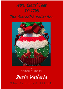 Mrs. Claus Feet Stitch Guide