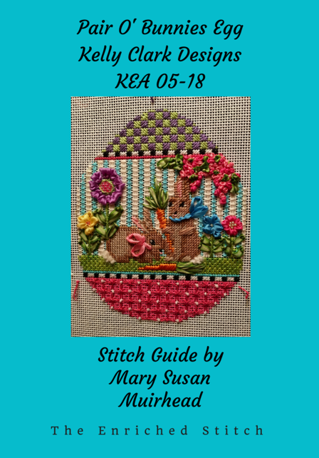 KEA 05-18 Pair O' Bunnies Egg Stitch Guide