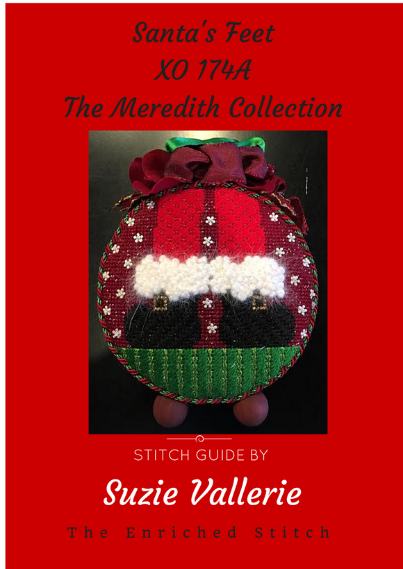 Santa Feet Stitch Guide