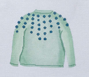SF-23 Mint Pom Sweater