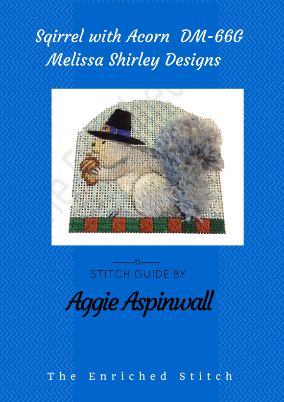 Squirrel with Acorn Stitch Guide