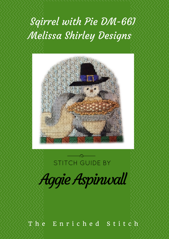 Squirrel with Pie Stitch Guide