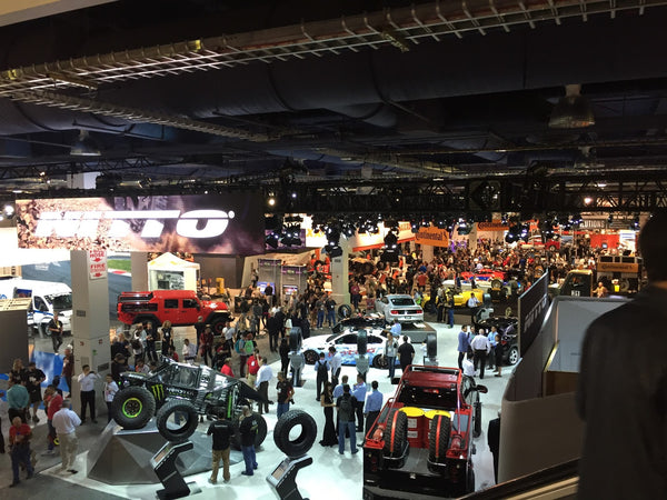 View over tradeshow hall at SEMA Las Vegas 2015