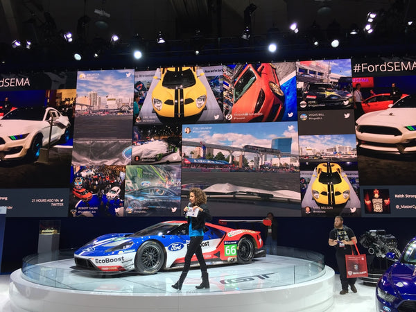 Ford ecoboost GT on display on the Ford stand at SEMA Las Vegas 2015