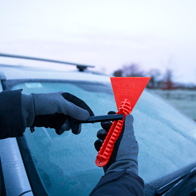 stayhold safety ice scraper and squeegee for your frozen and dirty car windows