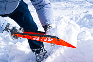 Stayhold Compact Safety Shovel shovelling snow