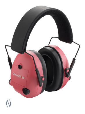 CHAMPION EAR MUFFS ELECTRONIC PINK