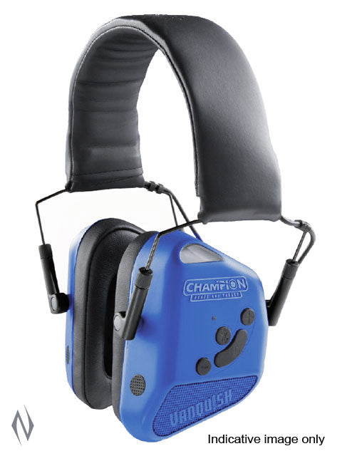 CHAMPION EAR MUFFS 24DB ELECTRONIC VANQUISH PRO BT BLUETOOTH BLUE