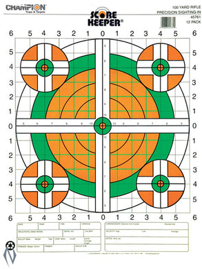 Champion TARGET 100YD SIGHT IN RIFLE FLURO 12pk