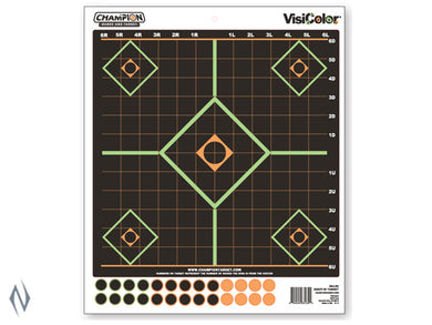 Champion TARGET VISICOLOR ADHESIVE SIGHT IN 5pk + PATCHES