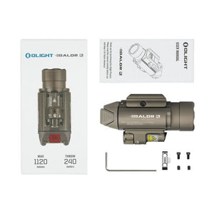 Olight BALDR RL 1120 Lumens Pistol Light with Red Laser
