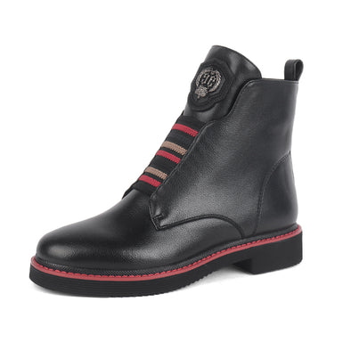 Sophie Genuine Leather Black Boots