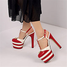 Load image into Gallery viewer, Greta T Strap Platform Sandals Heels