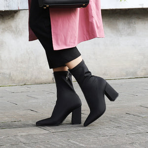 Lama Chunky Heel Ankle Boots