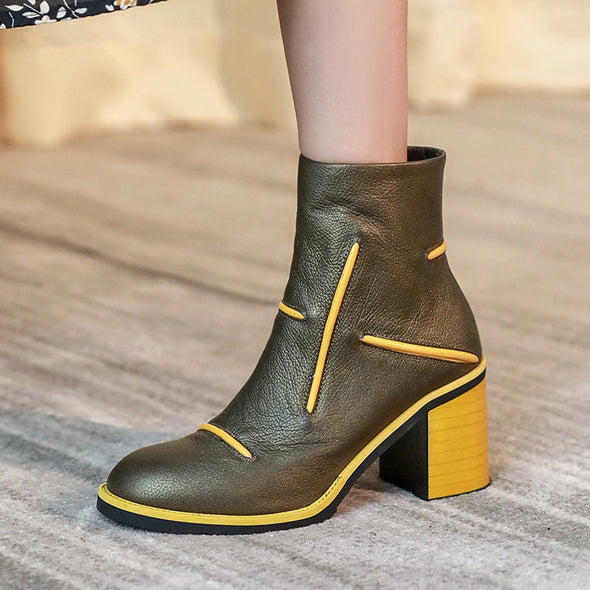Thanos Genuine Leather Ankle Boots