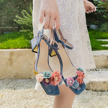 Load image into Gallery viewer, Betty Floral Ankle Strap Sandals