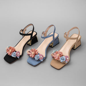 Betty Floral Ankle Strap Sandals
