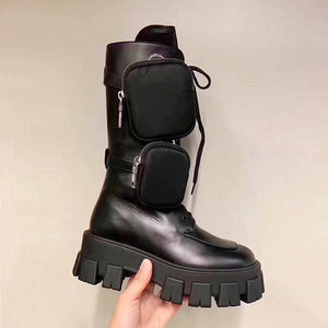Rayne Combat Boots With Pocket