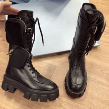 Load image into Gallery viewer, Rayne Combat Boots With Pocket