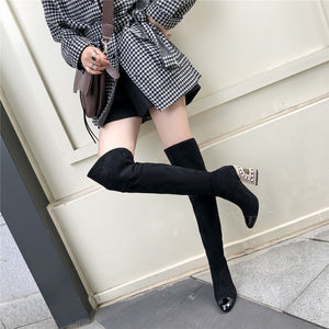 Anna Cap Toe over the Knee Boots