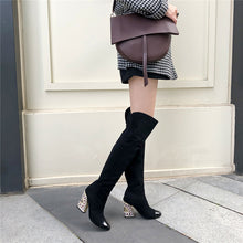 Load image into Gallery viewer, Anna Cap Toe over the Knee Boots
