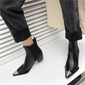 Handmade Cap Toe Chelsea Ankle Boots