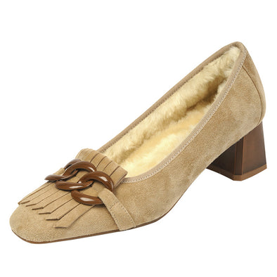 Irina Winter Low Heel Loafers