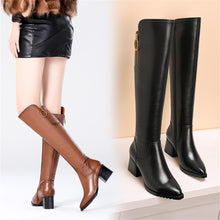Load image into Gallery viewer, Vancouver Chunky Heel Knee High Boots