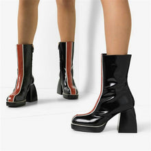 Load image into Gallery viewer, Damican Chunky Heel Platform Boots