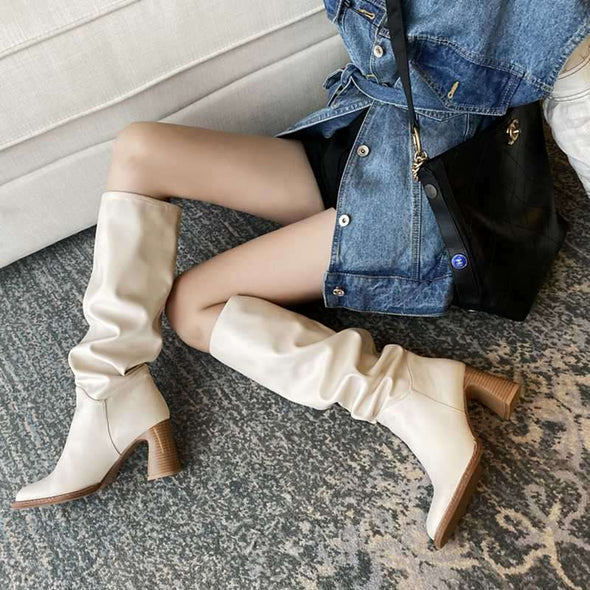 Vento Slouch Knee High Boots