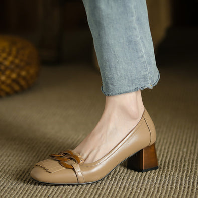 Nastya Low Heel Loafers