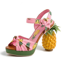 Load image into Gallery viewer, Marion Novelty Heel Fruit Print Platform Sandals