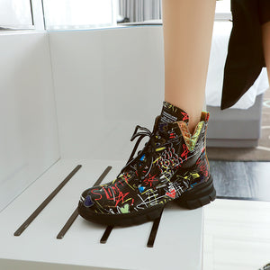 Kane Print Martin Ankle Boots