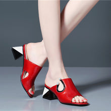 Load image into Gallery viewer, Handmade Gladiator Slides Sandles Heels
