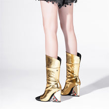Load image into Gallery viewer, Bella Genuine Leather Mid Calf Boots