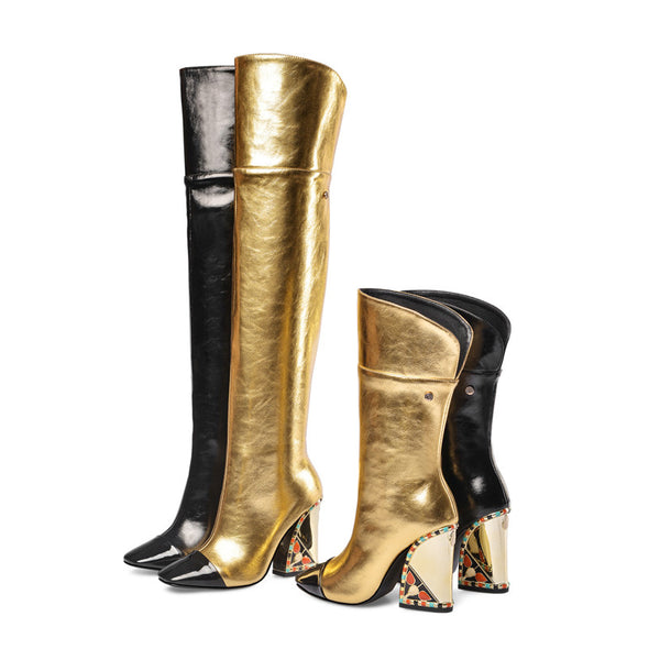 Bella Genuine Leather over the Knee Boots