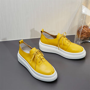 Charlize Genuine Leather Fashion Sneakers
