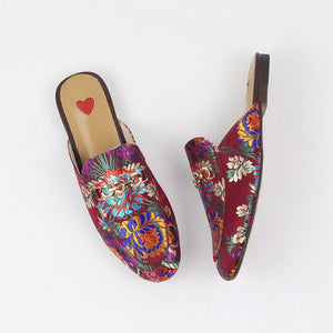 Mariam Embroidered Mules