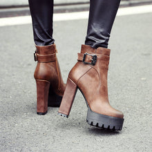 Load image into Gallery viewer, Maxton Platform Ankle Boots