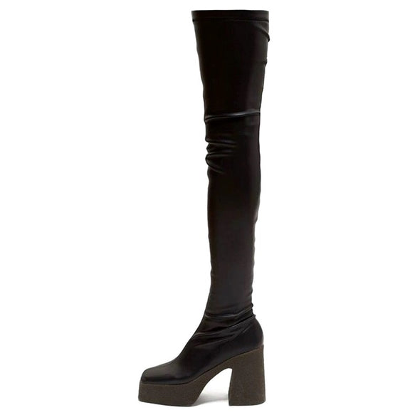 Kamy Platform over the Knee Boots