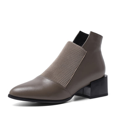 Handmade Genuine Leather Stylish Ankle Booties