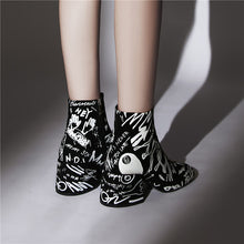 Load image into Gallery viewer, Clair Unique Print Ankle Booties