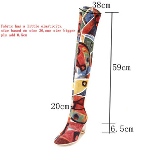 Molly Fashion Print Stretch Boots