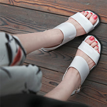 Load image into Gallery viewer, Unique Gladiator Red Chunky Heel Sandles-fyzoeshoe