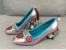 Load image into Gallery viewer, Harmony Fancy Rivet Tassel Chunky Heels