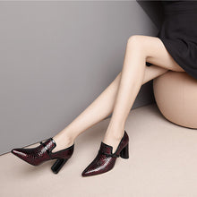 Load image into Gallery viewer, Cira Snake Print Pointy Toe Heels