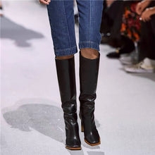 Load image into Gallery viewer, Victoria Novelty Heel Knee High Boots